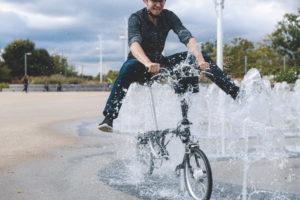 Electric Bike In Fountain