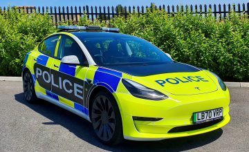 This Model 3 Police Car Is Ready For Evaluation In The UK