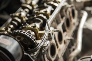 Engine Motor Close Up