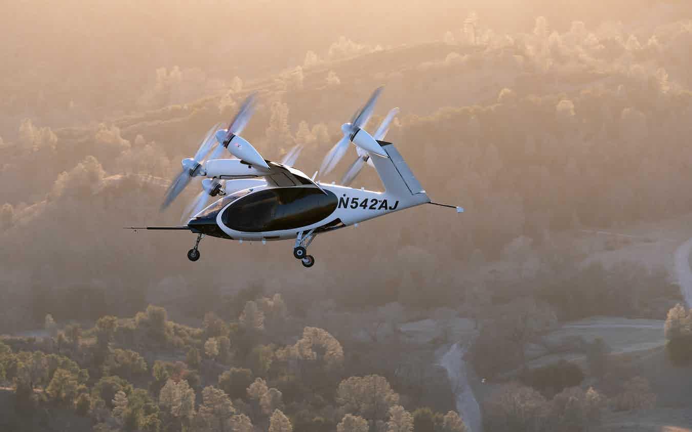 Joby eVTOL Aircraft In Flight