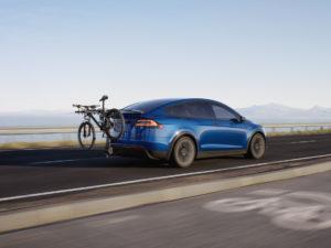 Tesla Model X Electric 4x4 With Bike