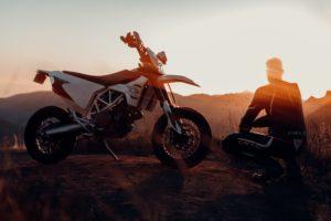 Electric Dirt Bike Sunset
