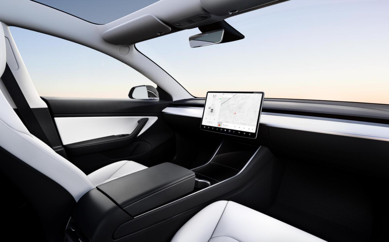 Tesla Car With No Steering Wheel