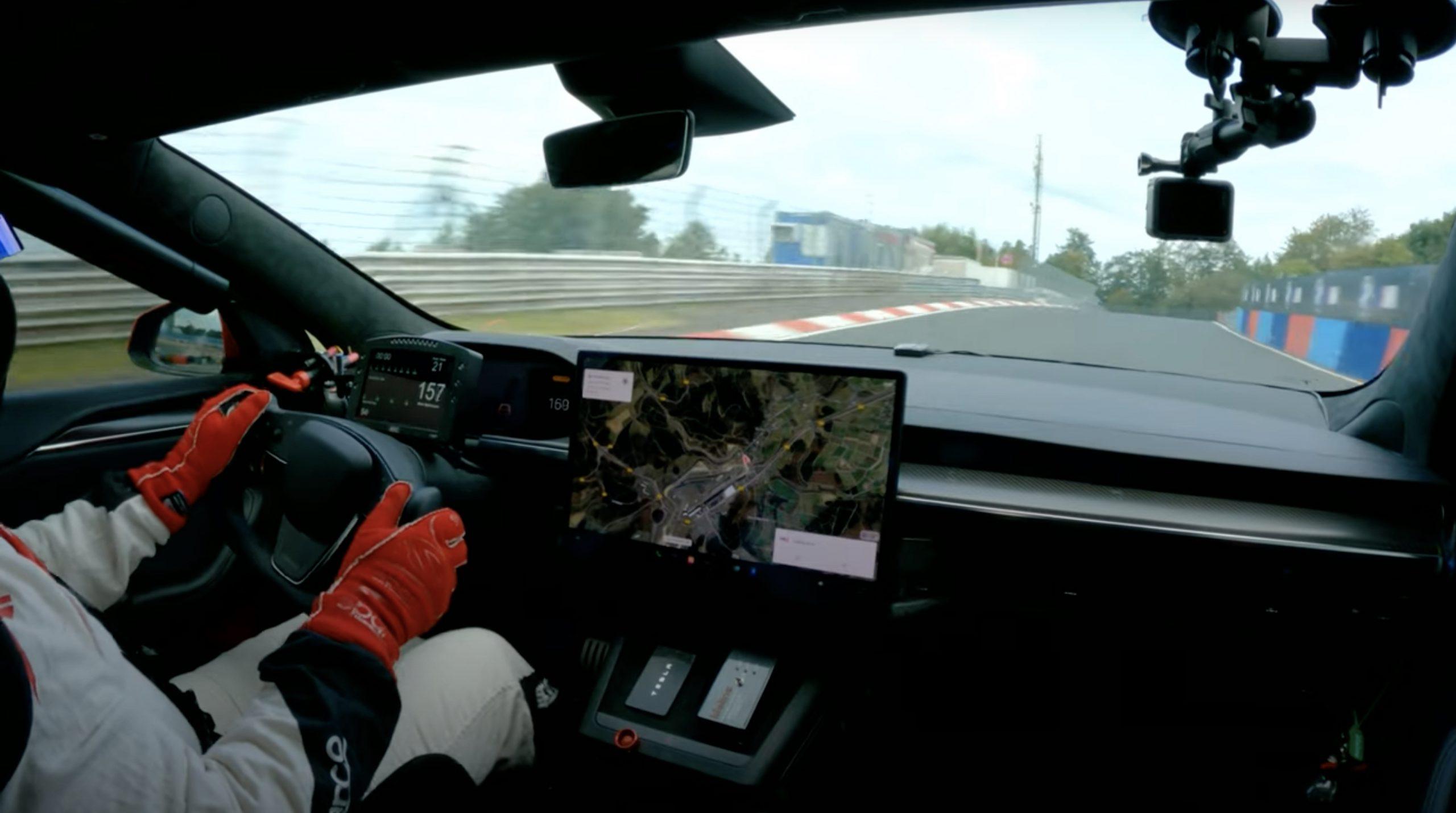 Tesla Model S On Racetrack