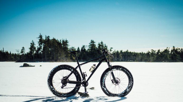 Fat Bike In Snow